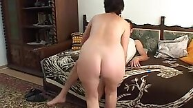 Lustful mature granny gets a rough anal treatment