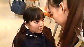 Asian teacher teaches student how to munch on dick