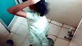 bengali girl behind the counter on hidden cam