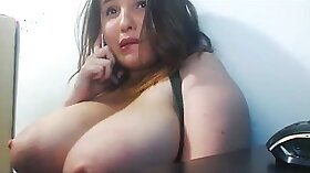 Busty Stud Getting A Body Ray From BBC