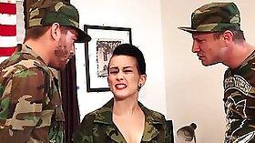 Military Uniform Sliding into Amar bank hole