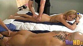 Bosomy chick Yumi Suange fucked in the massage room